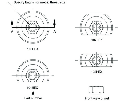 Donahue-Industries_disc-wheel-inserts_grinding-wheel-inserts-manufacturer_disc-cup-insert-with-assembled-hex-nut-diagram