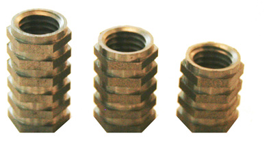 Threaded hex inserts